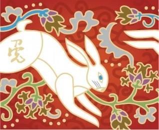 Oriental rabbit background