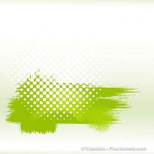 Dirty green halftone banner