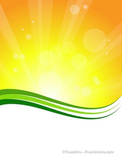 Sunburst background with green lines