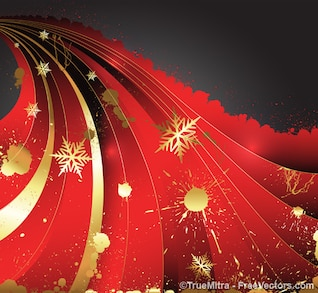 Christmas ornaments with golden splashes
