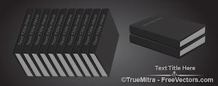 Row of black books vector