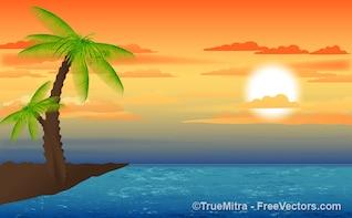 Nature sunset landscape backgrounds