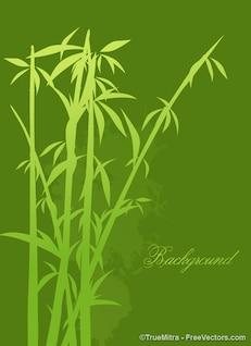 Bamboo tree  background vector set