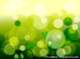 Sparkling green bubbles background elements