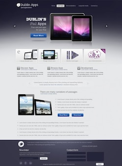 Professional Premium Website Design Template for iPad and iPhone Application Free Download