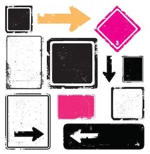 Arrow signs colors vector set