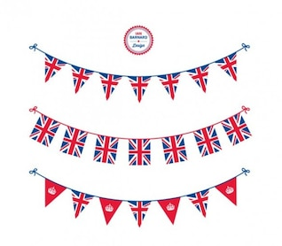 Patriotic Union Jack Jubilee bunting templates