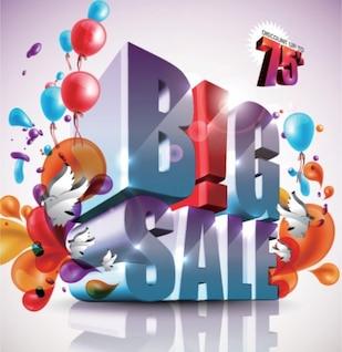 Big sale colorful illustration