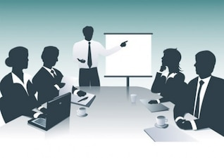 Businessmen with presentation