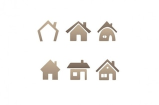 six diferent house icons