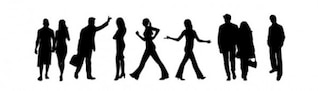 City people silhouettes vector pack