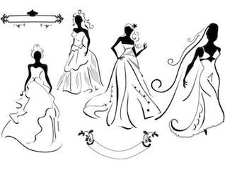 Wedding Dress for Brides vector