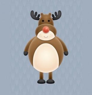 Cute christmas character illustration vector