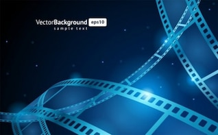 blue color strip background vector