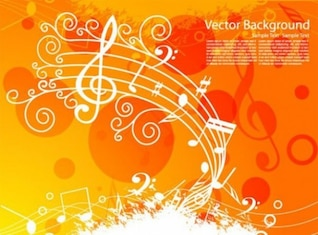 grunge stylish musical vector background