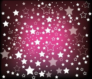 rain of stars on purple background