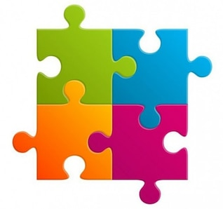 Simple colorful puzzle