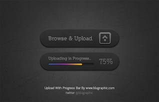 Upload Button With Progress Bar