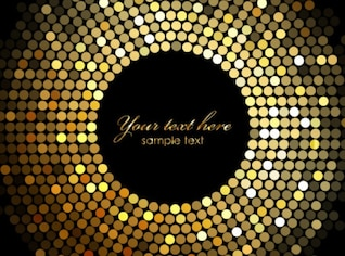 abstract background made by gold dots.