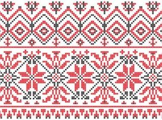 Swedish knitting patterns background vector set