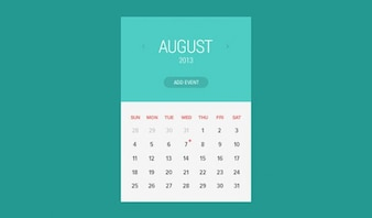 Widget calendar flat style