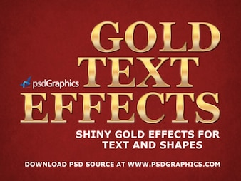 Gold text effects in Photoshop