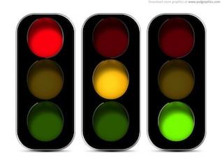 Traffic lights icon (PSD)