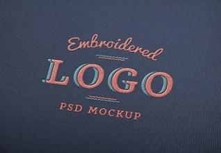 Elegant logo mockup PSD