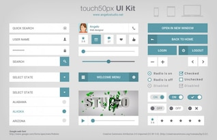 Complete ui kit PSD material