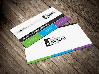 Tricolor Business Card Template