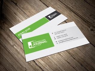 Column layout business card design