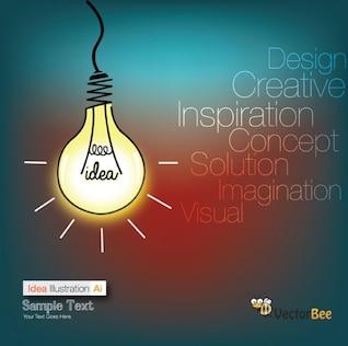 Bulb Idea infograph background