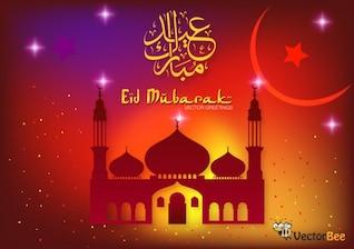 Eid Mubarak vector for Ramadan celebrations