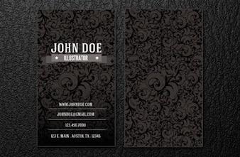 intrincate business card template.