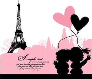 paris  france  love vector material