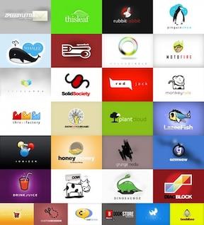 beautiful web  logo template vector material