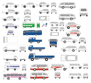 Transport vector icons pack