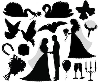 Getting married silhouettes