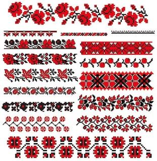 cross stitch patterns    vector