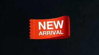 New arrival tag psd template