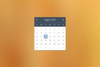 Simple calendar widget in flat design