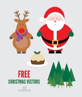 Christmas Vector pack with Santa Claus and reindeers