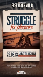 Rock club music event flyer template