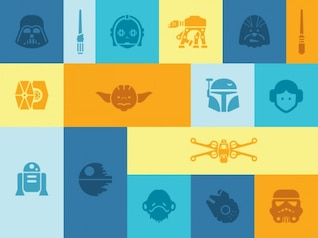 Colorful Star Wars icons