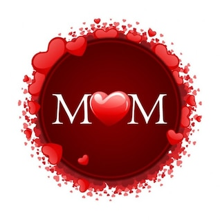 happy mother& ;s day with hearts