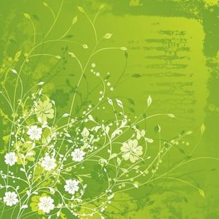 floral green vector illustration
