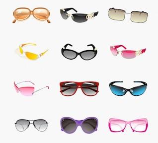 trendy sunglasses vector set