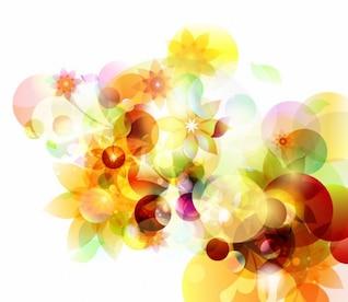 abstract autumn sunshine vector background