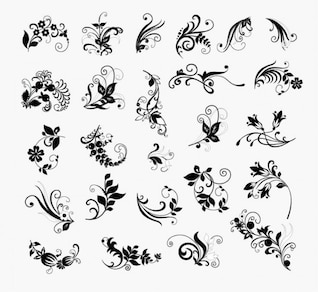 abstract floral flower vector pack