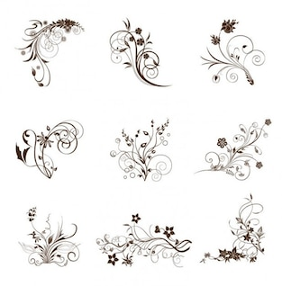 swirling flourishes decorative vintage elements